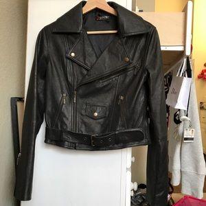 Jackets & Blazers - Leather moto jacket